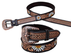 Rafter T Belt w/ Painted Daisey Flower