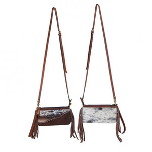 Rafter T Crossbody / Wristlet Cowhide & Leather w/ Studs