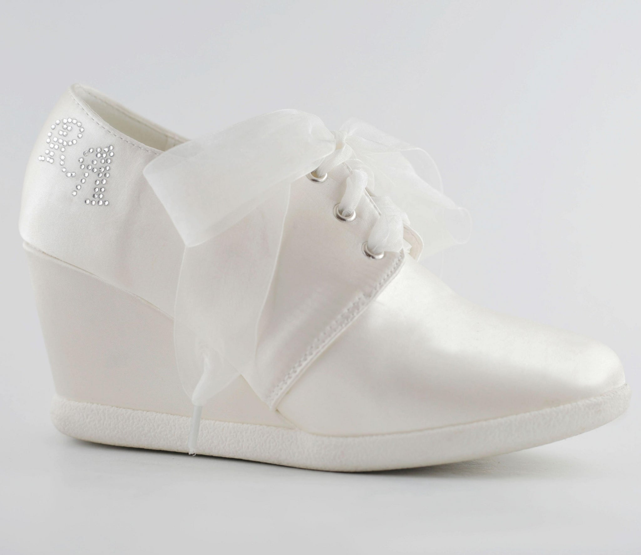 Belle Custom Monogram Wedding Wedge Sneaker