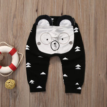Load image into Gallery viewer, Cute Animal Trousers for Toddlers Glasses Bear / 19-24 months Baby Clothes zelnaga.myshopify.com AllAboutBB AllAboutBB