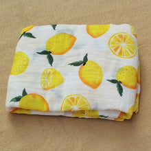 Load image into Gallery viewer, Cotton Muslin Baby Blanket Swaddle Lemon Swaddle zelnaga.myshopify.com AllAboutBB AllAboutBB