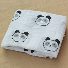Load image into Gallery viewer, Cotton Muslin Baby Blanket Swaddle Panda Swaddle zelnaga.myshopify.com AllAboutBB AllAboutBB
