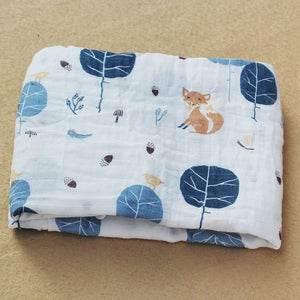 Cotton Muslin Baby Blanket Swaddle Fox Swaddle zelnaga.myshopify.com AllAboutBB AllAboutBB