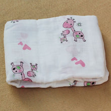 Load image into Gallery viewer, Cotton Muslin Baby Blanket Swaddle Pink Deer Swaddle zelnaga.myshopify.com AllAboutBB AllAboutBB