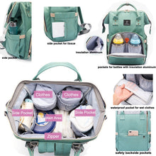 Load image into Gallery viewer, Designer Baby Diaper Backpack with USB charging  Diaper Bags zelnaga.myshopify.com AllAboutBB AllAboutBB