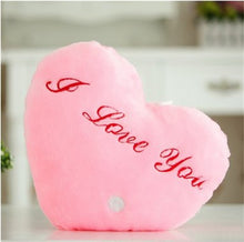 "Load image into Gallery viewer, Light Up Plush ""I Love You"" Heart LED Pillow (36 cm) Pink Heart Light Up Pillow zelnaga.myshopify.com AllAboutBB AllAboutBB"