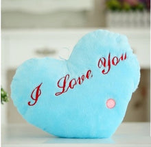 "Load image into Gallery viewer, Light Up Plush ""I Love You"" Heart LED Pillow (36 cm) Blue Heart Light Up Pillow zelnaga.myshopify.com AllAboutBB AllAboutBB"