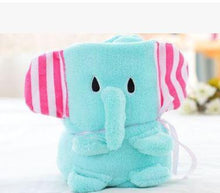 Load image into Gallery viewer, Baby Blanket Sleeping Bag Teal Elephant Swaddle zelnaga.myshopify.com AllAboutBB AllAboutBB