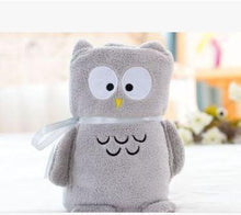 Load image into Gallery viewer, Baby Blanket Sleeping Bag Grey Owl Swaddle zelnaga.myshopify.com AllAboutBB AllAboutBB