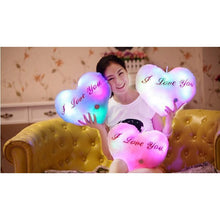 "Load image into Gallery viewer, Light Up Plush ""I Love You"" Heart LED Pillow (36 cm)  Light Up Pillow zelnaga.myshopify.com AllAboutBB AllAboutBB"