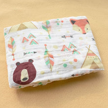 Load image into Gallery viewer, Cotton Muslin Baby Blanket Swaddle Bear Fox Swaddle zelnaga.myshopify.com AllAboutBB AllAboutBB