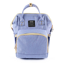 Load image into Gallery viewer, Cute Baby Diaper Backpack Light Blue Diaper Bags zelnaga.myshopify.com AllAboutBB AllAboutBB