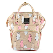 Load image into Gallery viewer, Baby Diaper Backpack Beige Bears Diaper Bags zelnaga.myshopify.com AllAboutBB AllAboutBB