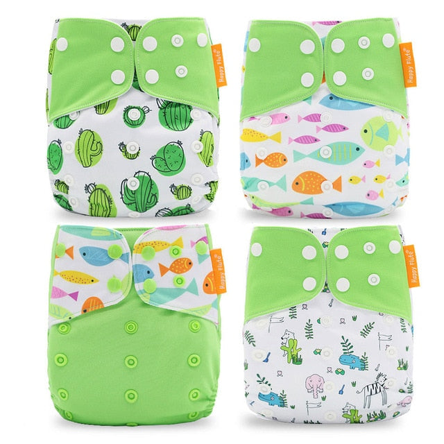 Lime Extreme Waterproof and Reusable Infant Cloth Diaper (4pcs/set) Default Title Diapers zelnaga.myshopify.com AllAboutBB AllAboutBB