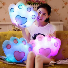 Load image into Gallery viewer, Light Up Plush Bear Paw LED Pillow (34cm)  Light Up Pillow zelnaga.myshopify.com AllAboutBB AllAboutBB