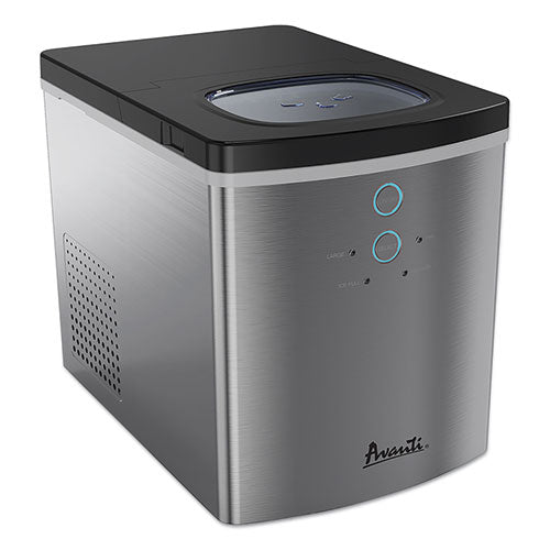 Portable-countertop Ice Maker, 25 Lb, Stainless Steel