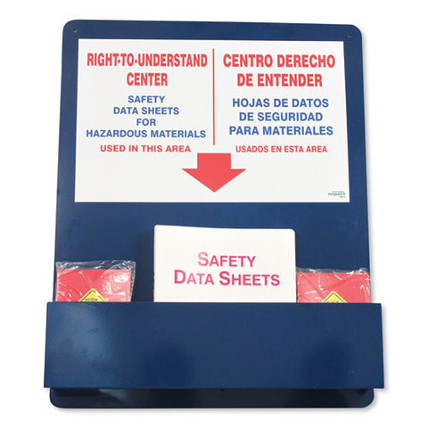 "Bilingual ""right-to-understand"" Sds Center, 25w X 5.2d X 30h, Blue-white-red - Amorsupply Inc"