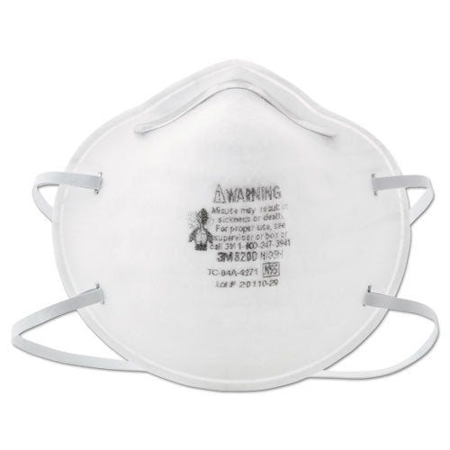 N95 Particle Respirator 8200 Mask, 20-box
