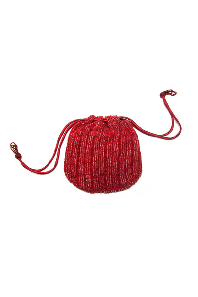 DRAWSTRING POUCH RED