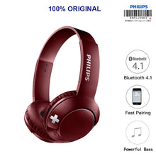 Load image into Gallery viewer, Philips Original Wireless Bluetooth Headset-Red