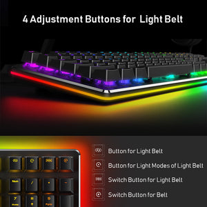 RGB Gaming Mechanical Keyboard 108Key Blue Switch