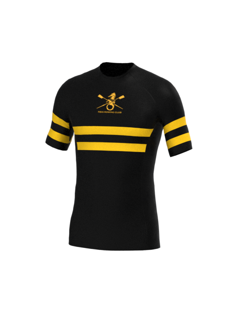 RBAI Mens Black Stripe SS Baselayer