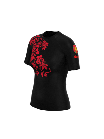 Red Rose Womens Short Sleeve Rashvest