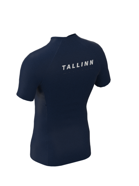 Tallinn Mens Short Sleeve Shirt Blue