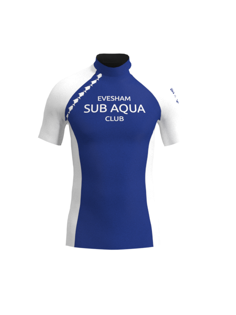 Evesham Sub Aqua Club Mens Short Sleeve Rashvest