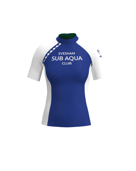 Evesham Sub Aqua Club Womens Short Sleeve Rashvest
