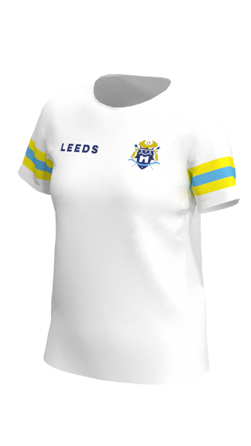 Leeds Womens White Short Sleeve Tech Shirt