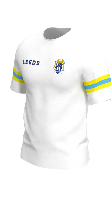 Leeds Mens White Short Sleeve Tech Shirt
