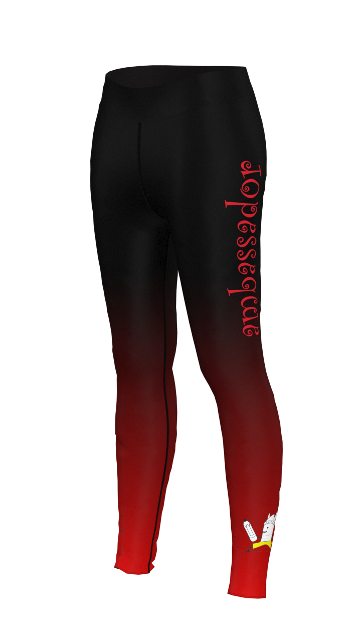 Mini Me Yoga Red Fade Leggings