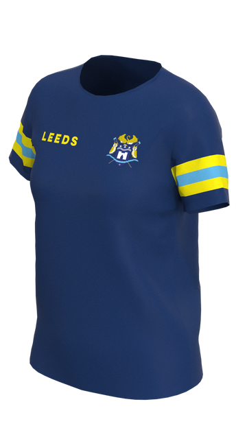 Leeds Womens Blue Short Sleeve Tech Shirt