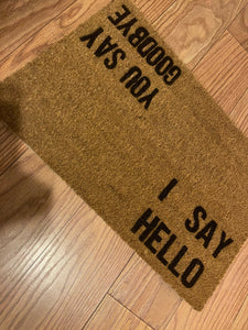 Hello Goodbye Doormat