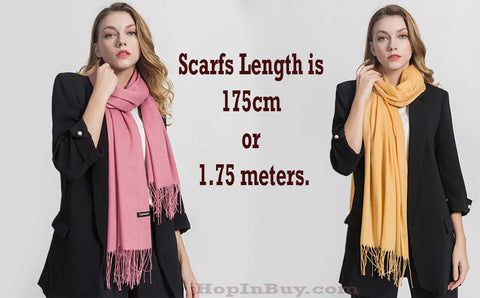 scarfs length is 175cm or 1.75 meters. Best Scarf for women or Girls
