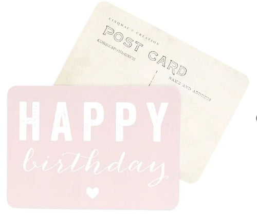 Carte postale HAPPY BIRTHDAY - CINQ MAI