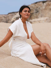 Load image into Gallery viewer, Maria Linen Dress in Paloma White
