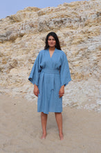 Load image into Gallery viewer, Nachi Linen Yukata in Cala Blue | Unisex