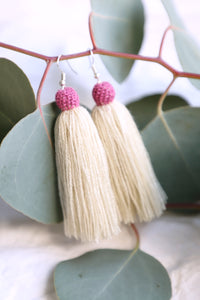 The Carolina Tassel Earring in Paloma and Amora