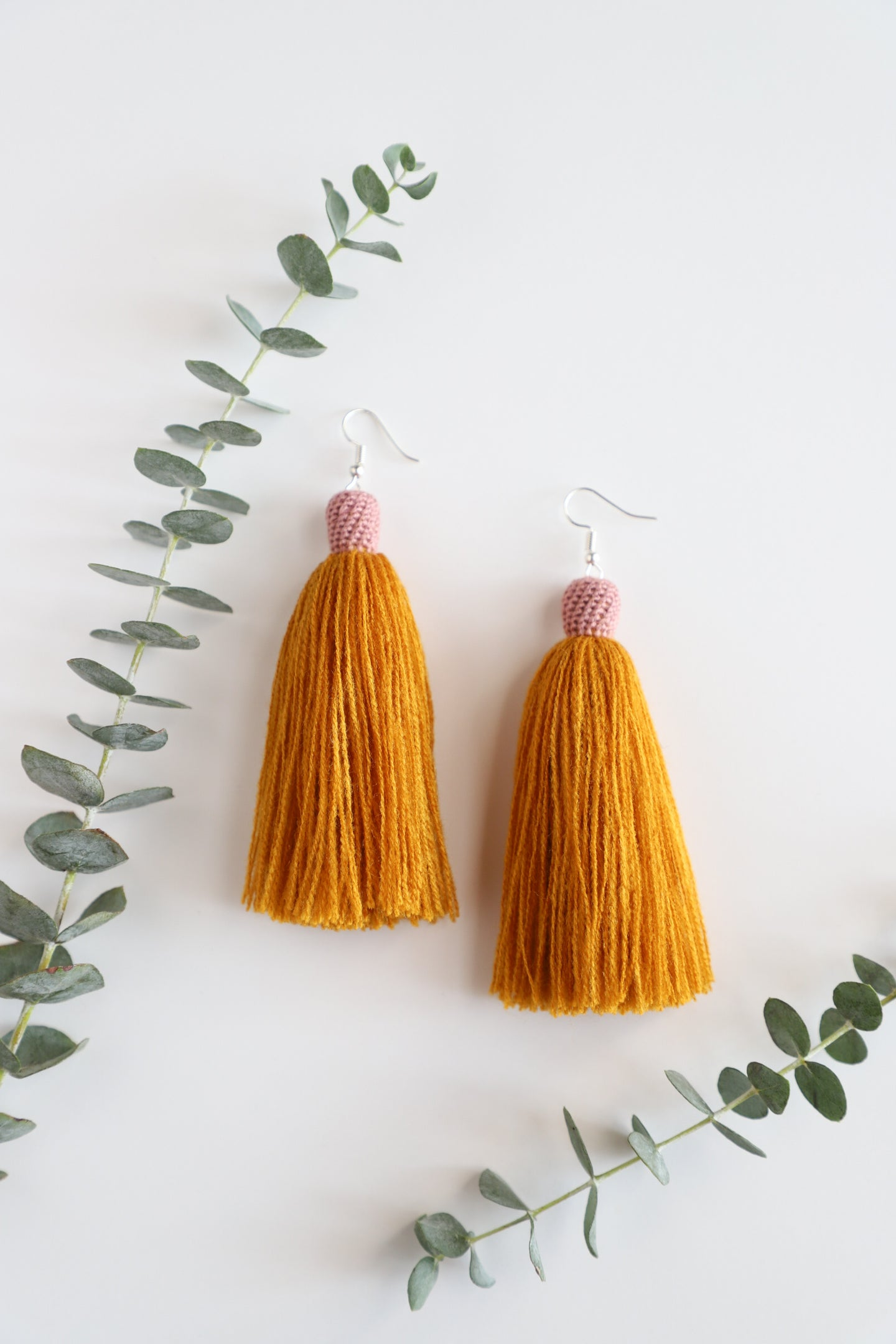 The Tassel Earring in Marigold and Rose