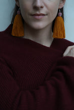 Load image into Gallery viewer, The Tassel Earring in Marigold and Rose