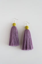Load image into Gallery viewer, The Carolina Tassel Earring in Lavender and Canary