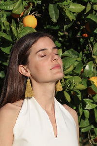 Carolina Tassel Earring in Marigold (Silk)