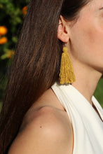 Load image into Gallery viewer, Carolina Tassel Earring in Marigold (Silk)