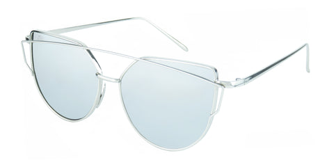 SILVER CATEYE POLARIZED MIRRORED