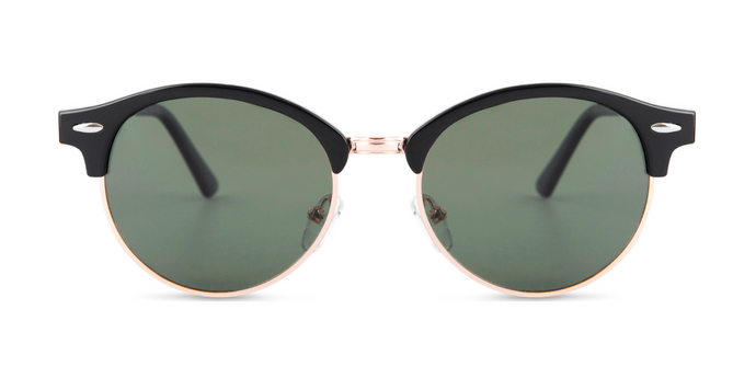 RETRO ROUND GREEN LENSES