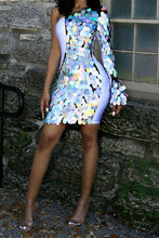 Load image into Gallery viewer, One Shoulder Sequin Dress