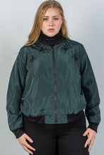 Load image into Gallery viewer, Ladies fashion plus size criss-cross sides bomber jacket