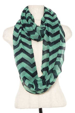 Load image into Gallery viewer, Striped infinity scarf